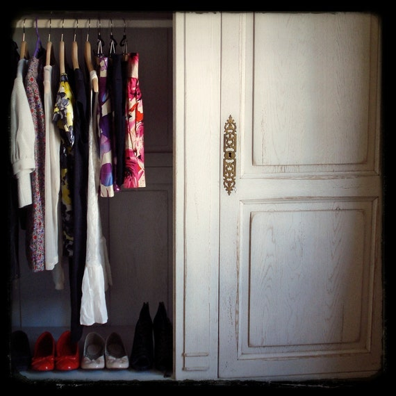 french girl's wardrobe . . . 5x5 fine art photography print