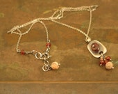 Garnet Necklace with Dangles
