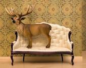 2 for 1 SALE - deer print, woodland decor, deer art, antlers - Barely Domestic 8 x 10