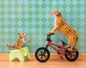2 for 1 SALE - tiger mom art print, bmx bicycle, diorama, eames elephant: Tiger Mom