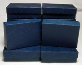 JEWELRY GIFT BOXES Navy Embossed 3 x 2 x 1 (12)