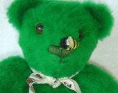 Patti O'Bear - OOAK 15 inch Green Teddy Bear