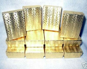 JEWELRY GIFT BOXES Gold Foiled 3 x 2 x 1 (12)