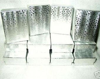 JEWELRY GIFT BOXES Silver Foiled 3 x 2 x 1 (12)