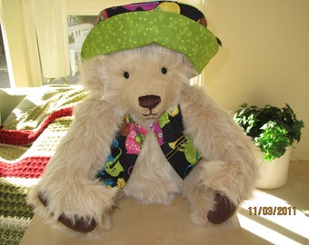 "Kris Bear - OOAK 20"" Teddy Bear Handcrafted One-of-a-Kind w/ German Growler"