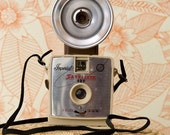 Tan Imperial Satellite Camera with Flash