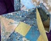 Large Turquoise Origami Box