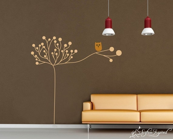 Kids Wall Decals - Owl on a Tree Decal - Kids Wall Art Collection