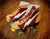 vintage lightning bolt roller skates