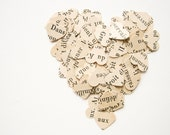 50 Vintage French Punched Hearts - Confetti or Papercraft - Valentine's Day
