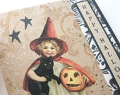 Halloween Card - Vintage inspired OOAK collage