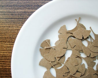 Ginkgo Leaf Punch Outs - set of 36