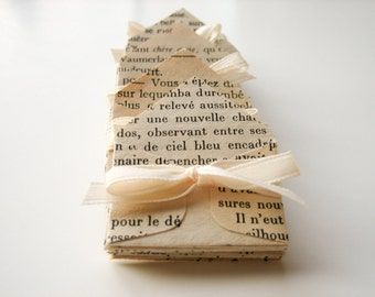 12 French Miniature Envelopes made from vintage french books