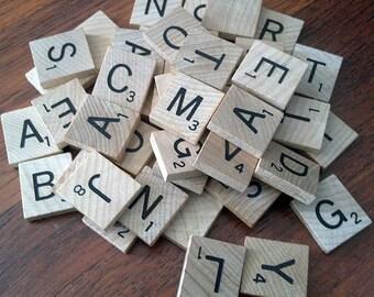 30 Scrabble Tiles
