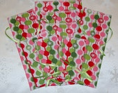 Small Fabric Stocking Stuffer Bags - Set of 9 - Reusable / Eco-Friendly