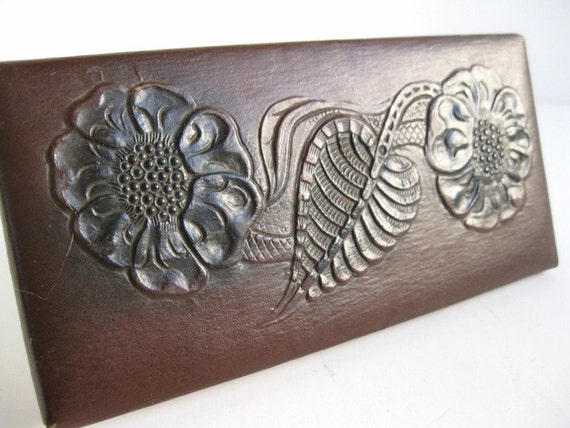 beguiling antique ink blotter with embossed design