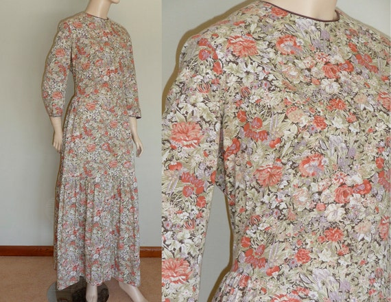 Vintage Reproduction Prairie Dress : large to extra large