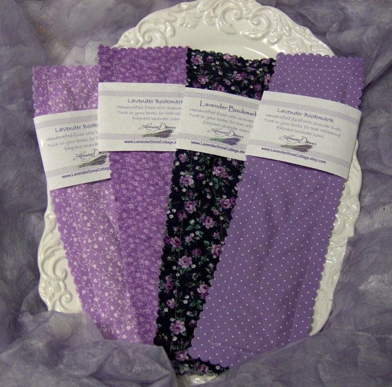 Fabric Bookmark, Lavender Filled, Single, choices of fabric