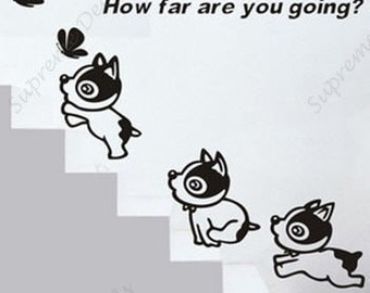 Happy Puppy - Vinyl removable wall decals stickers home decor
