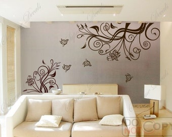 Prosperous, TV Background(middle size) - Wall art home decor Vinyl Removable decals stickers murals