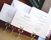 Westchester Wedding Invitation Suite - Navy Blue - Simple - Classic - Square