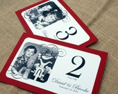 RESERVED for Jenna - TENTED Through the Years - Personalized Photo Table Numbers by Age or Year - Custom Colors - Set of 10