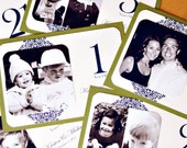 RESERVED for Brittney - Personalized Photo Table Numbers by Age or Year - 5 x 7 Frameable Size - Custom Colors - Set of 26