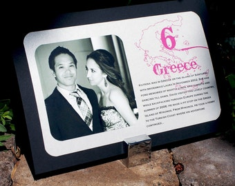 The Bree Photo, Travel & Story Table Cards - Destination Weddings - Travel - Maps - Custom Colors