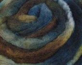 Hand Dyed BFL /Silk Wool Blend Top Roving for Spinning Felting - Fieldstone Wall  4.0 oz
