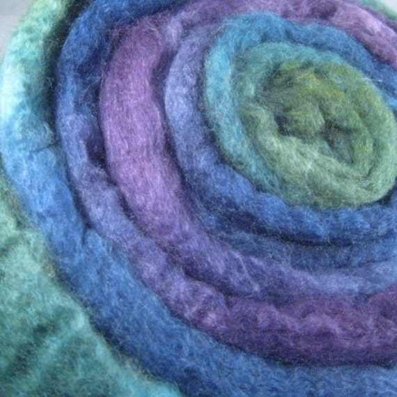 BFL /Silk Wool Blend Hand Dyed Top Roving for Spinning Felting - G.B.P. 4.0 oz
