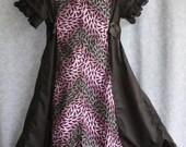 Purple and Black Chevron Bat Dress
