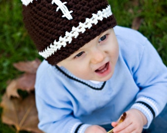 Football Hat - Adorable for boys and girls - Available in 6 Sizes