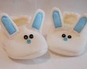 Blue Bunny Baby Booties