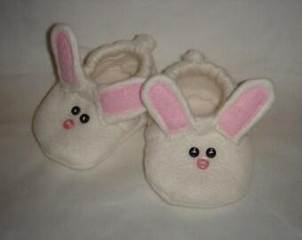 Pink Bunny Baby Booties