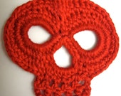 Crochet Applique Pattern, Skull Applique, PDF Format