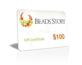 Beads Story Gift Certificate - 100 DOLLARS, Gift card, Gift certificate, Jewelry gift
