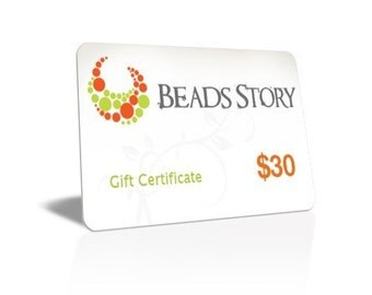 Beads Story Gift Certificate - 30 DOLLARS, gift, gift card
