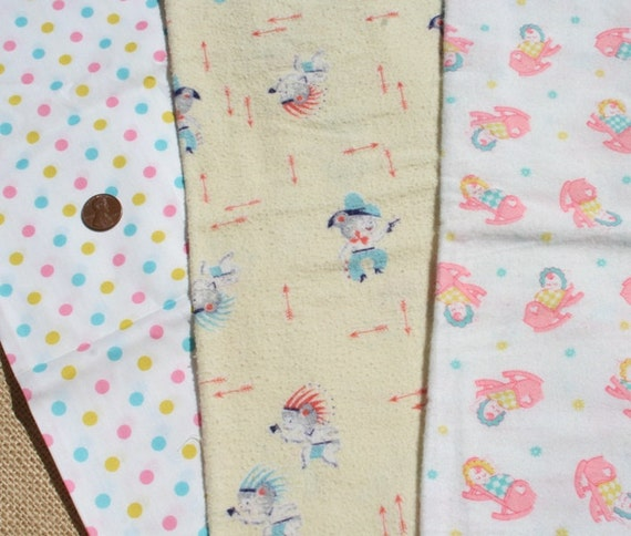 Vintage Flannel Fabric Baby Flannel Nursery By Pixiedustlinens