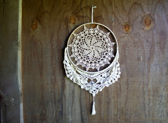 handmade repurposed rustic mandala wall-hanging