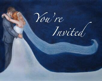 Custom Wedding Design - Winter and/or Formal Invite - Original Artwork - (Includes 100 invites)
