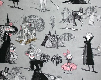 The Ghastlies- Alexander Henry Skeleton 1 Yard Fabric