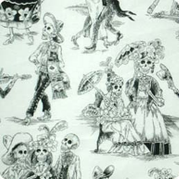 Day of the Dead- Alexander Henry Skeleton 1 Yard Fabric