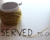 RESERVED ITEM- TWIST hand crocheted bracelet (brown and natural)- minimal nautical style- made of cotton thread