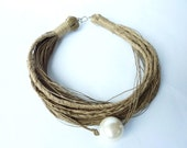 Just one Pearl Linen Necklace