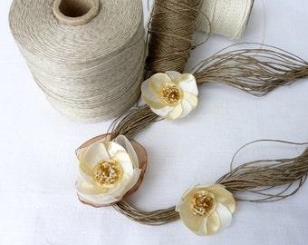 Elegant-Gold-Beige-Linen-Necklace