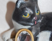 Vintage Bridal Faux White Diamond Button Cover at Chat Noir Studio