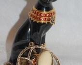 Sarah Coventry Desert Flower Pendant Chain Necklace at Chat Noir Studio