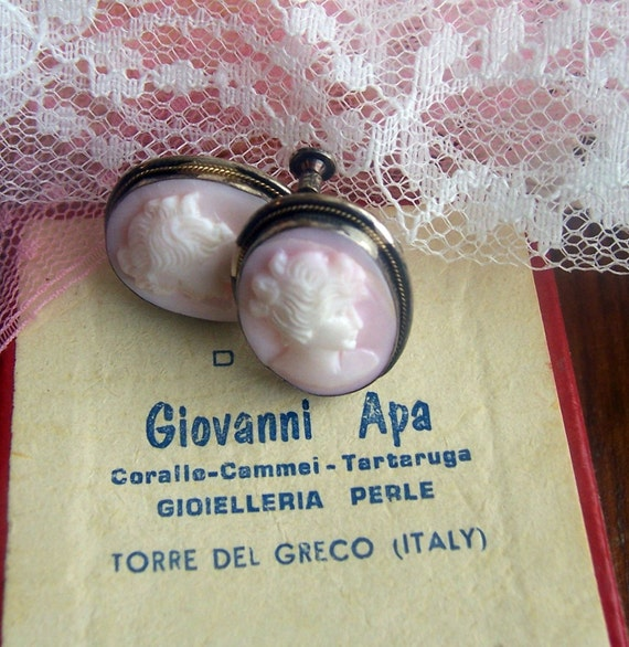 Giovanni Apa Vintage Cameo Earrings