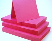 Cardstock 3 inch x 5 inch Flat Sheets 50 pack Rose