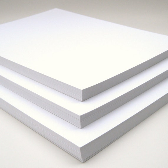 Cardstock Full Sheets in Smooth White Set of 30 Wedding Invitation Scrapbook Paper DIY Project